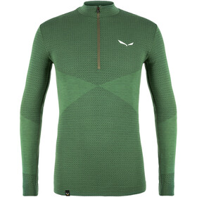 SALEWA Zebru Responsive Camiseta 1/2 Cremallera Hombre, verde